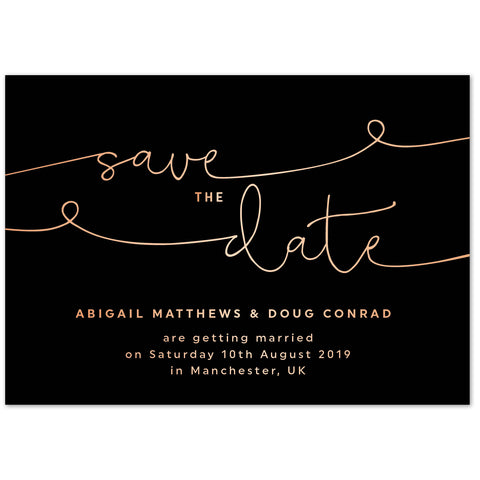 Kate foil save the date card