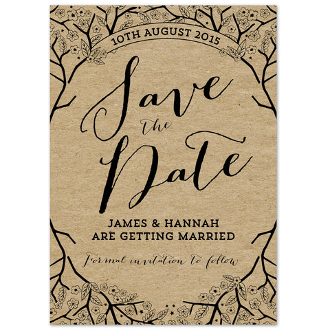 Enchanted Forest Kraft Save The Date