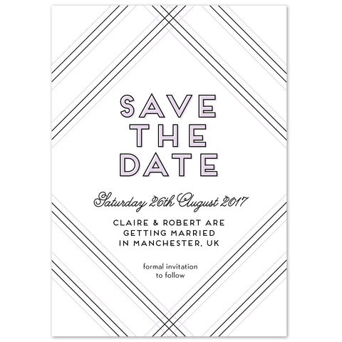 Geometric Save The Date