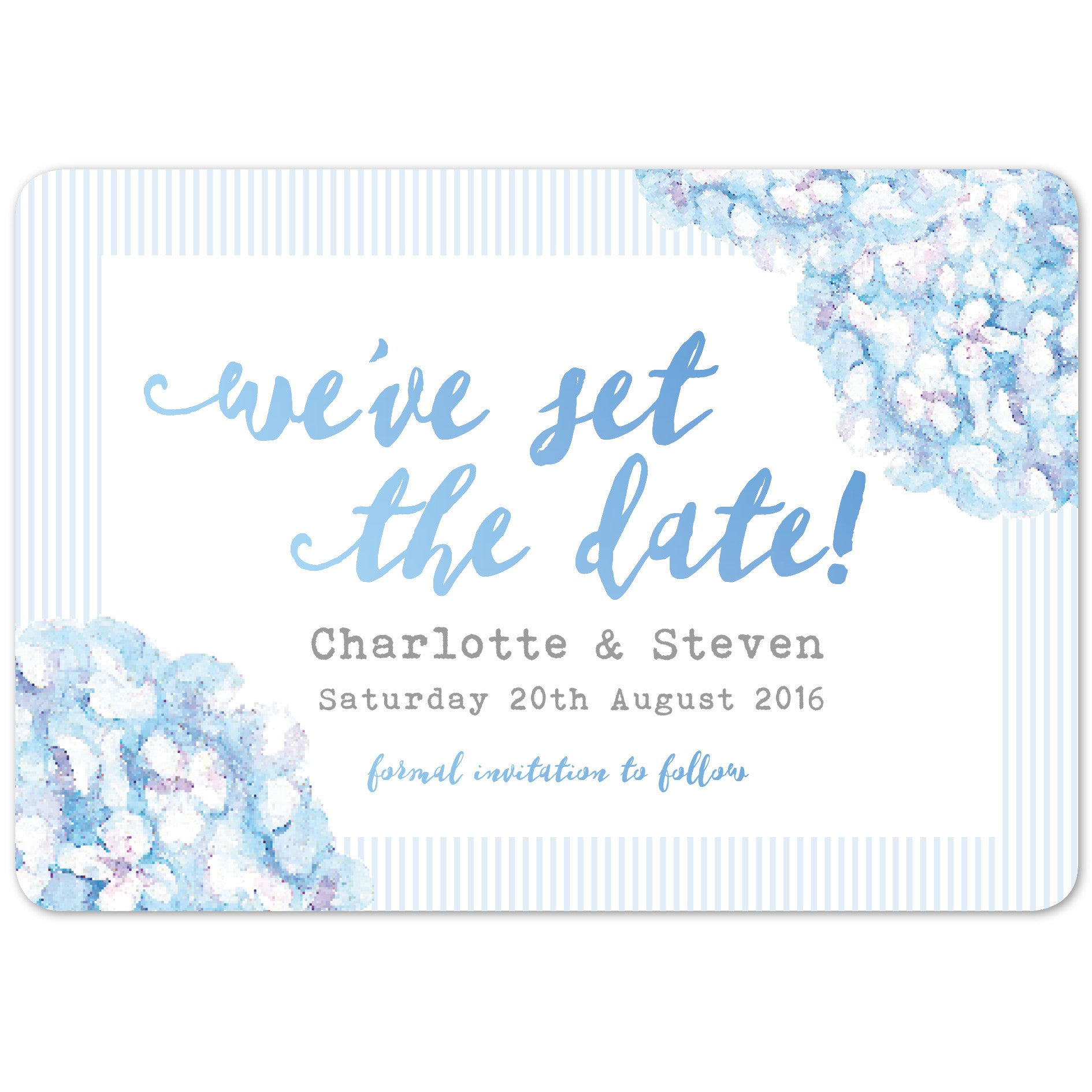 Hydrangea Blue Save The Date