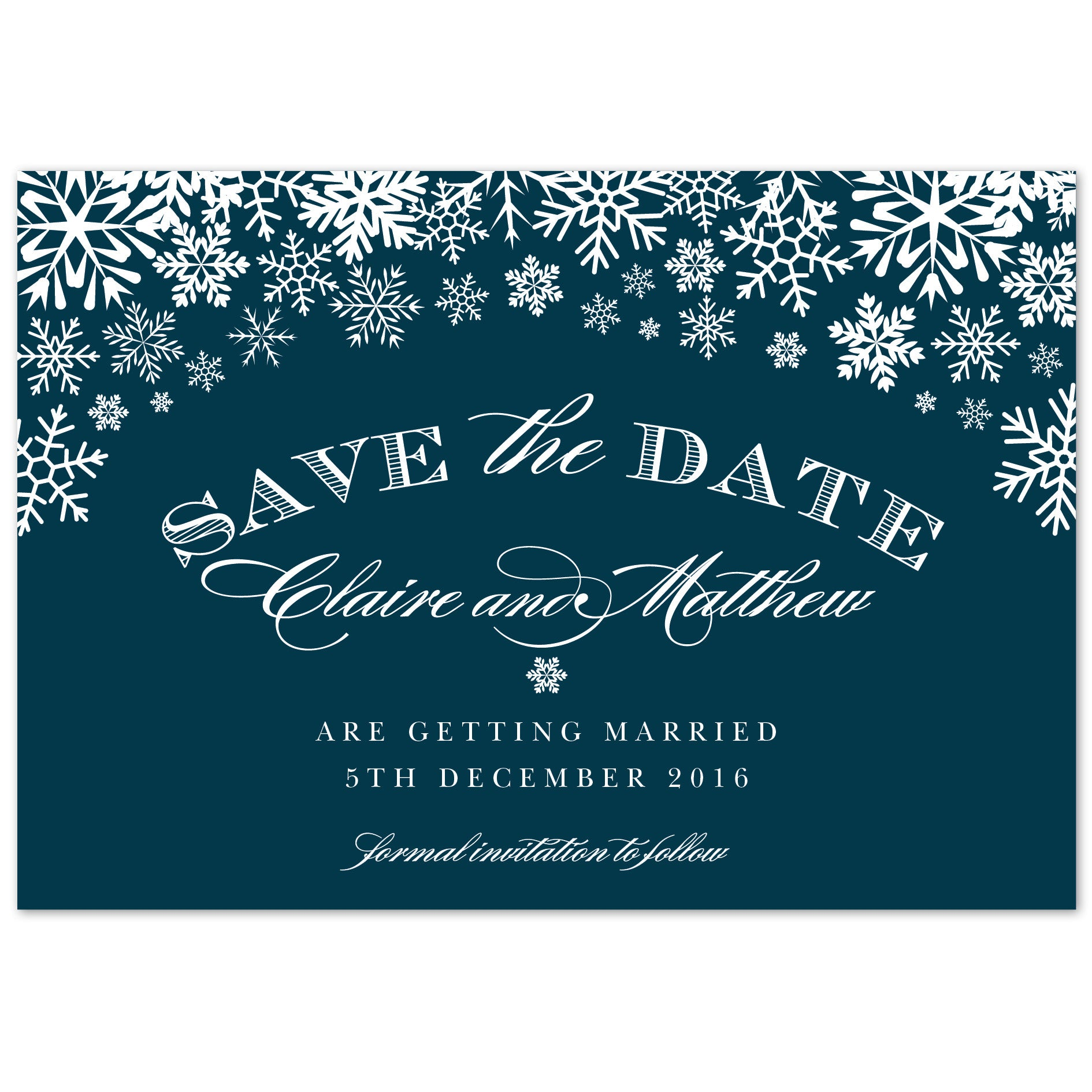 Snowflake Save The Date
