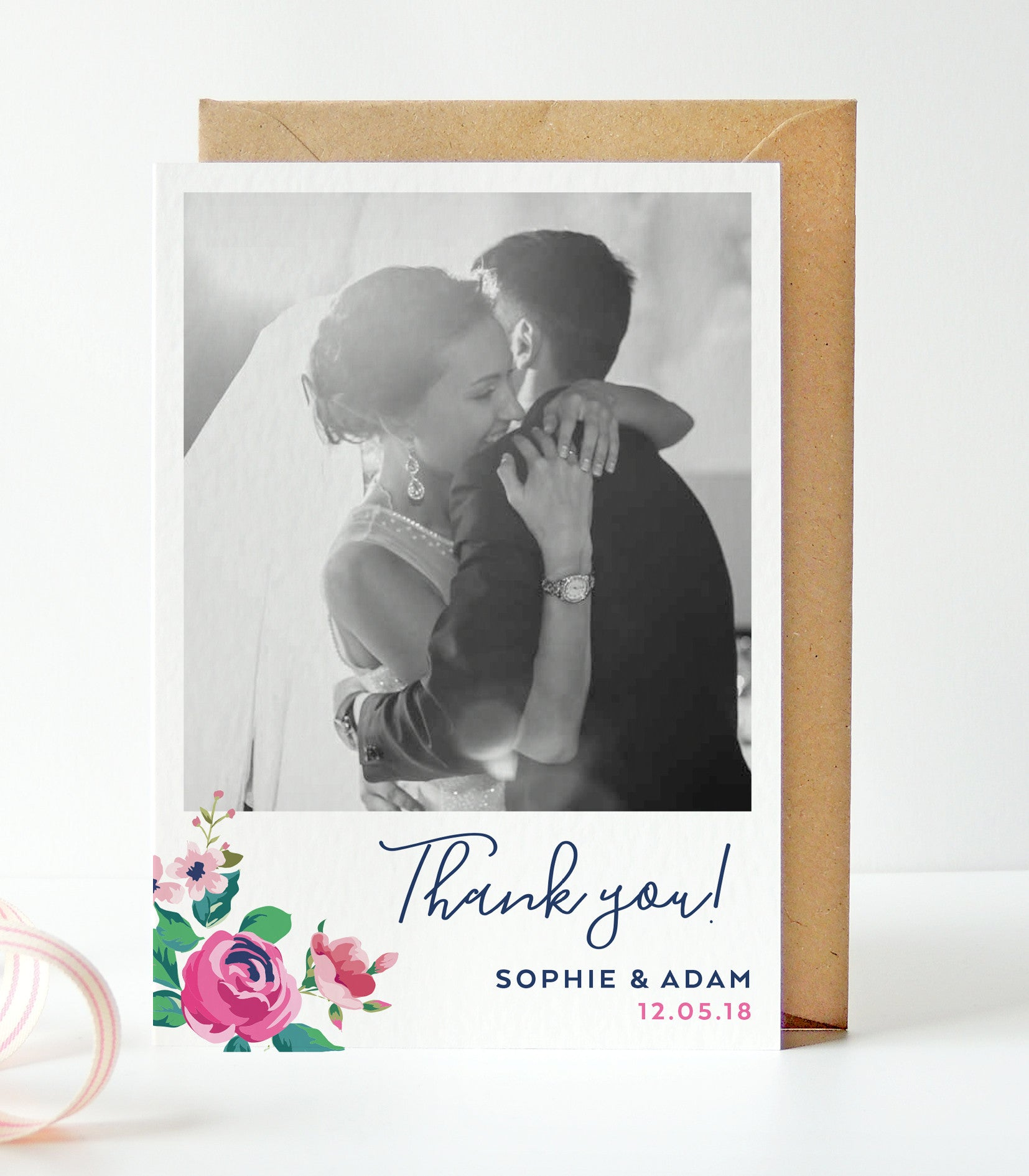 Adela Wedding Photo Thank You Cards