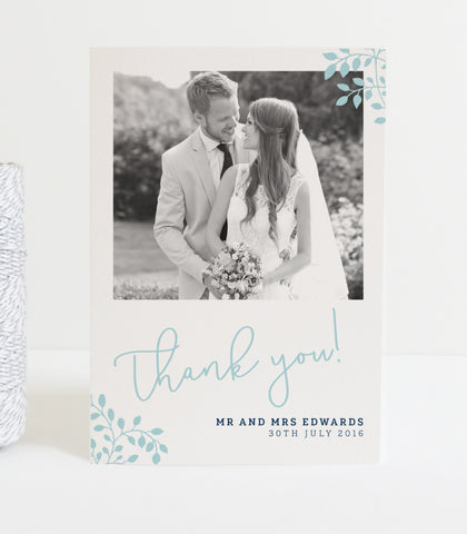 Alice Wedding Photo Thank You Cards