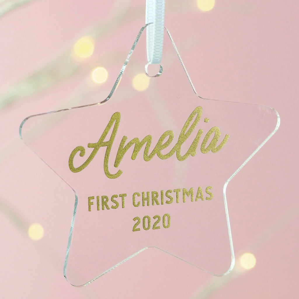 Star Baby's First Christmas Decoration