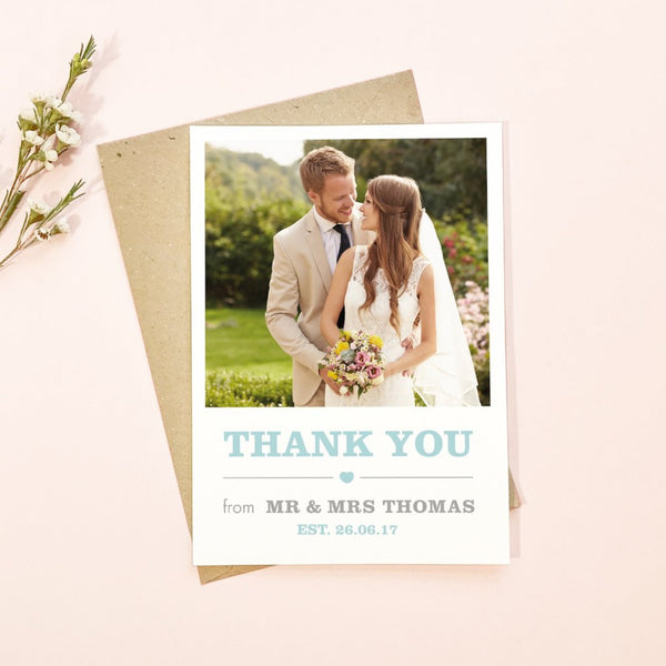 Amelia Wedding Photo Thank You Cards
