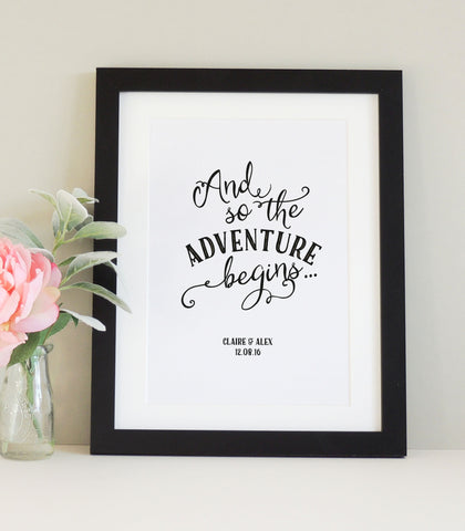Personalised 'Adventure' Print