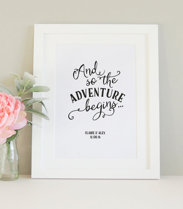 Personalised 'Adventure' Print - Project Pretty  - 2