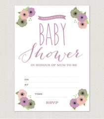 12 X Poppy Baby Shower Invitations - Project Pretty  - 3
