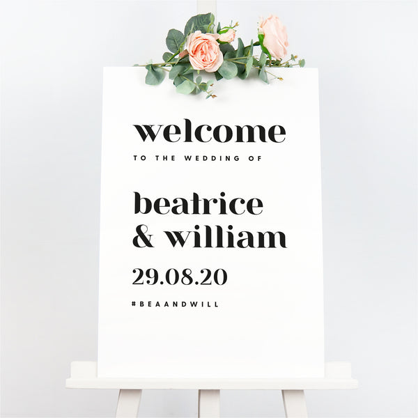 Billie welcome sign