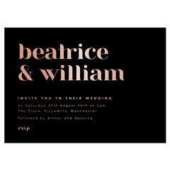 Foil printed Billie Wedding Invitations