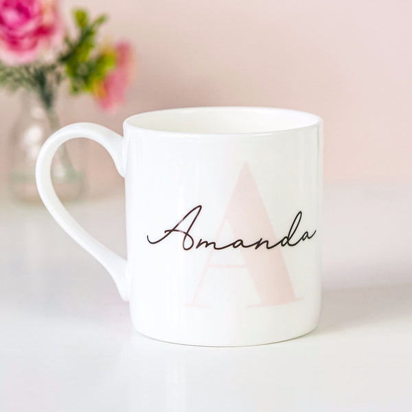 Personalised Name and Initial Bone China Mug