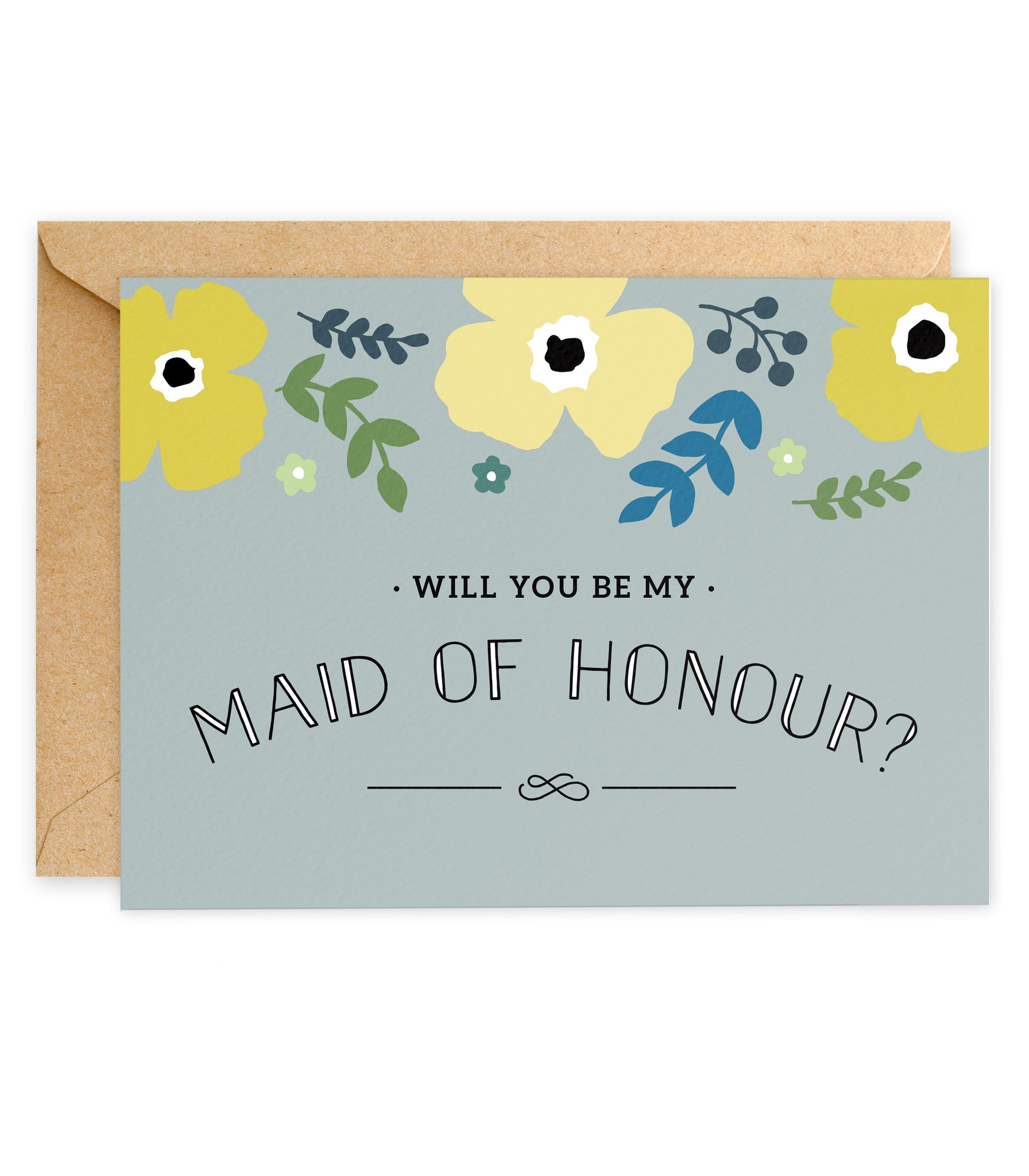 Yellow Poppy 'Will You Be My Maid of Honour? Card - Project Pretty