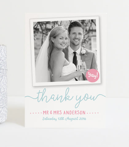 Charlie Wedding Photo Thank You Cards