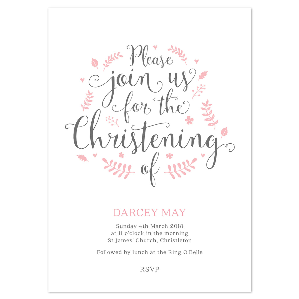 Florence Christening/baptism invitation