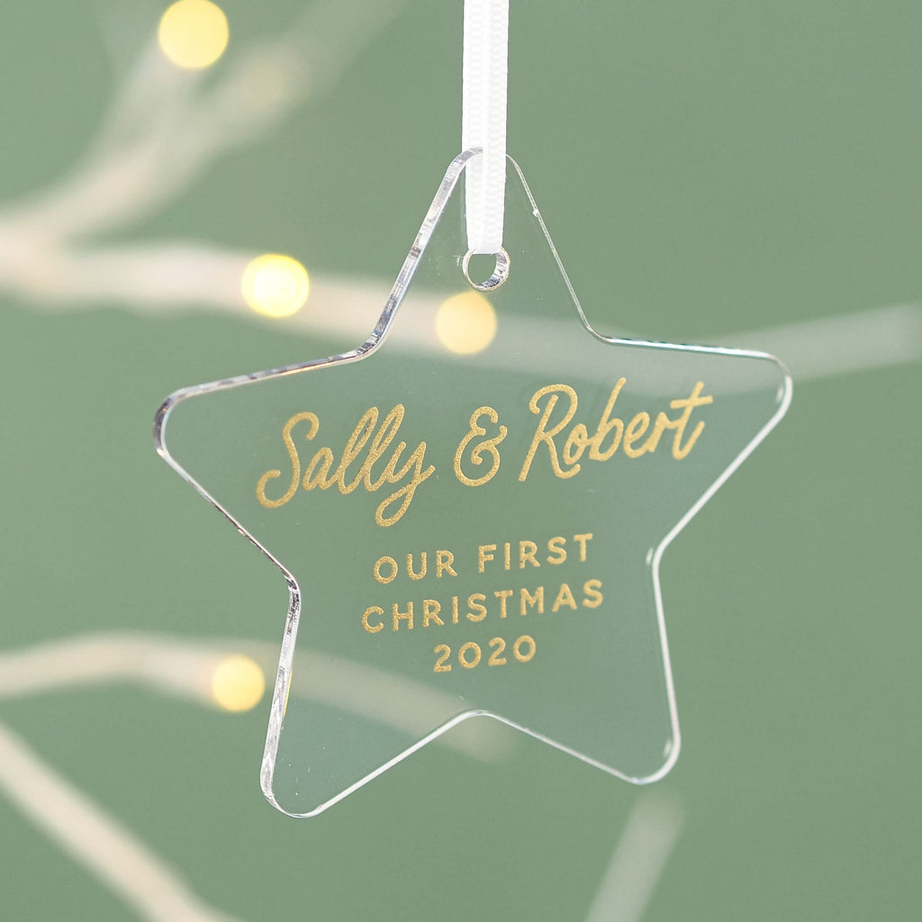 Star First Christmas Together Christmas Decoration