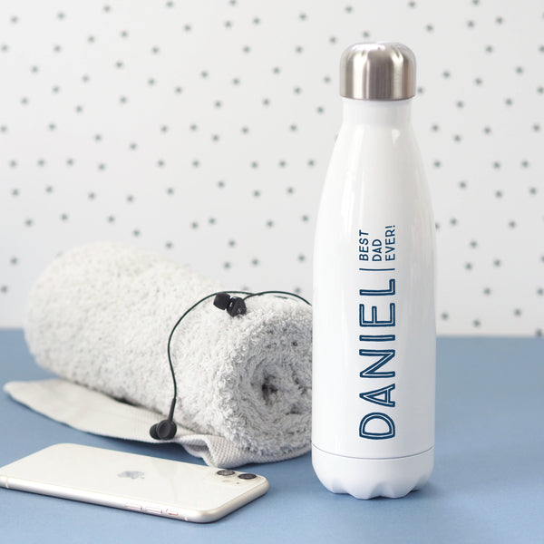 Best Dad personalised water bottle
