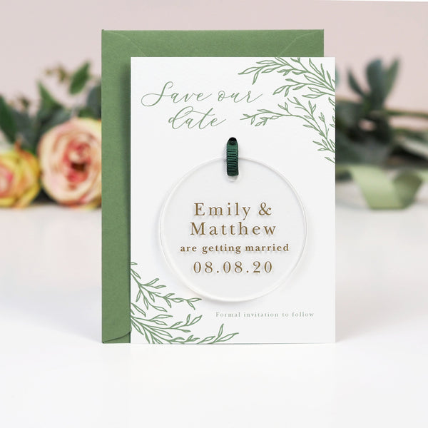 Florence hanging acrylic save the date