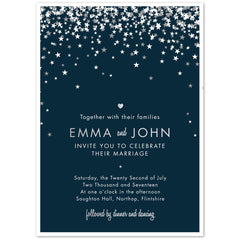 Foil printed Bella Wedding Invitations