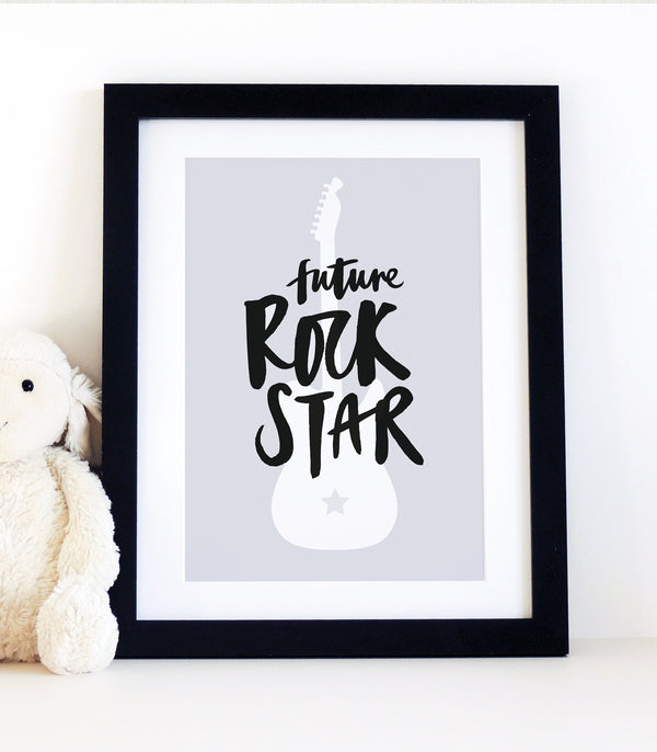 'Future Rock Star' nursery print