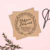 Enchanted Forest Kraft Wedding Invitation