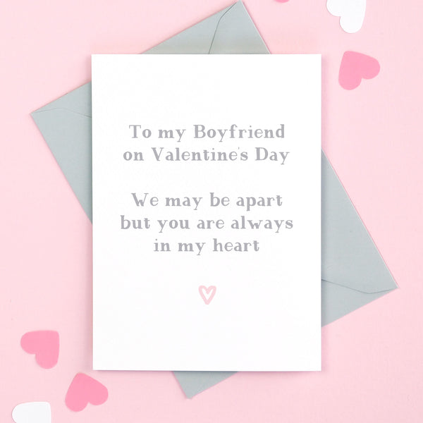 Boyfriend Always In My Heart Valentine's Card