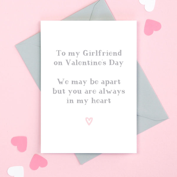 Girlfriend Always In My Heart Valentine's Card