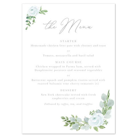 Eucalyptus Menu Cards