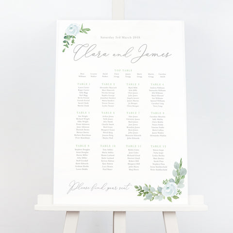 Eucalyptus Table Plan