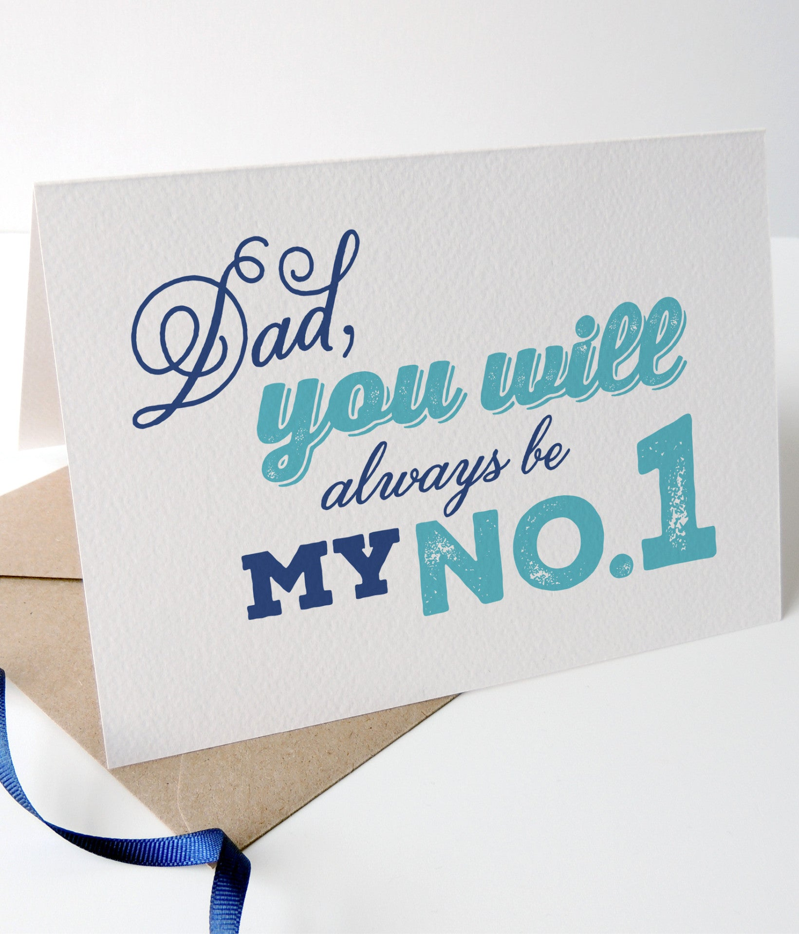 'Dad, You Will Always Be My No.1' Fathers Day Card - Project Pretty  - 2
