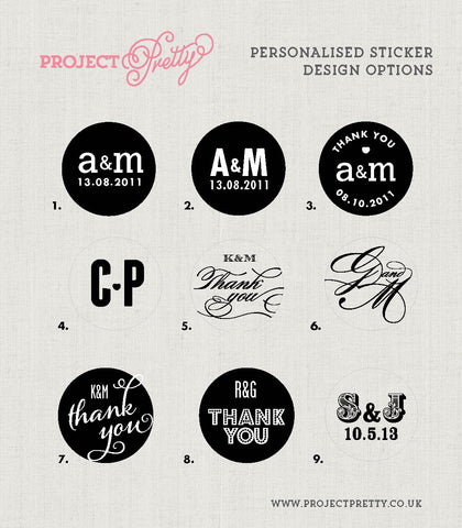 35 Personalised Stickers - Project Pretty  - 2