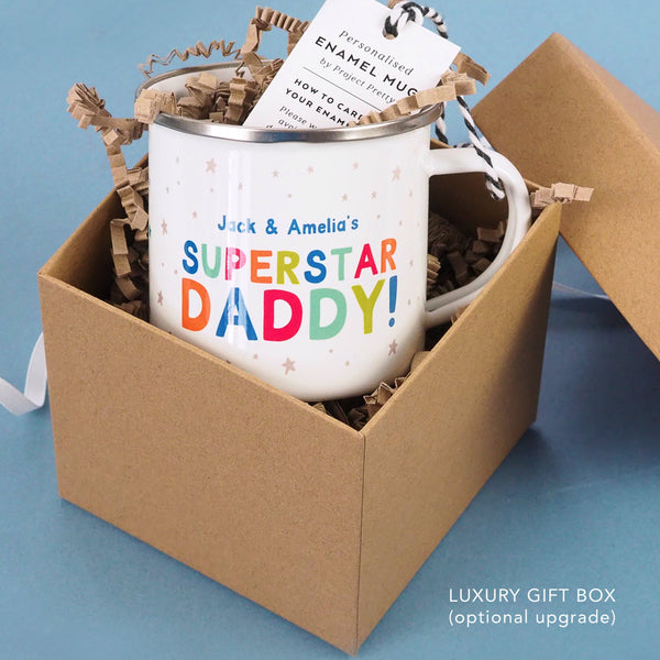 Superstar Daddy Personalised Enamel Mug