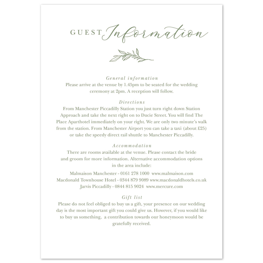 Florence Delicate Foliage information card