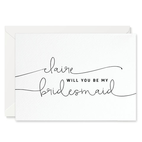 Kate Personalised 'Will You Be My Bridesmaid?' Card