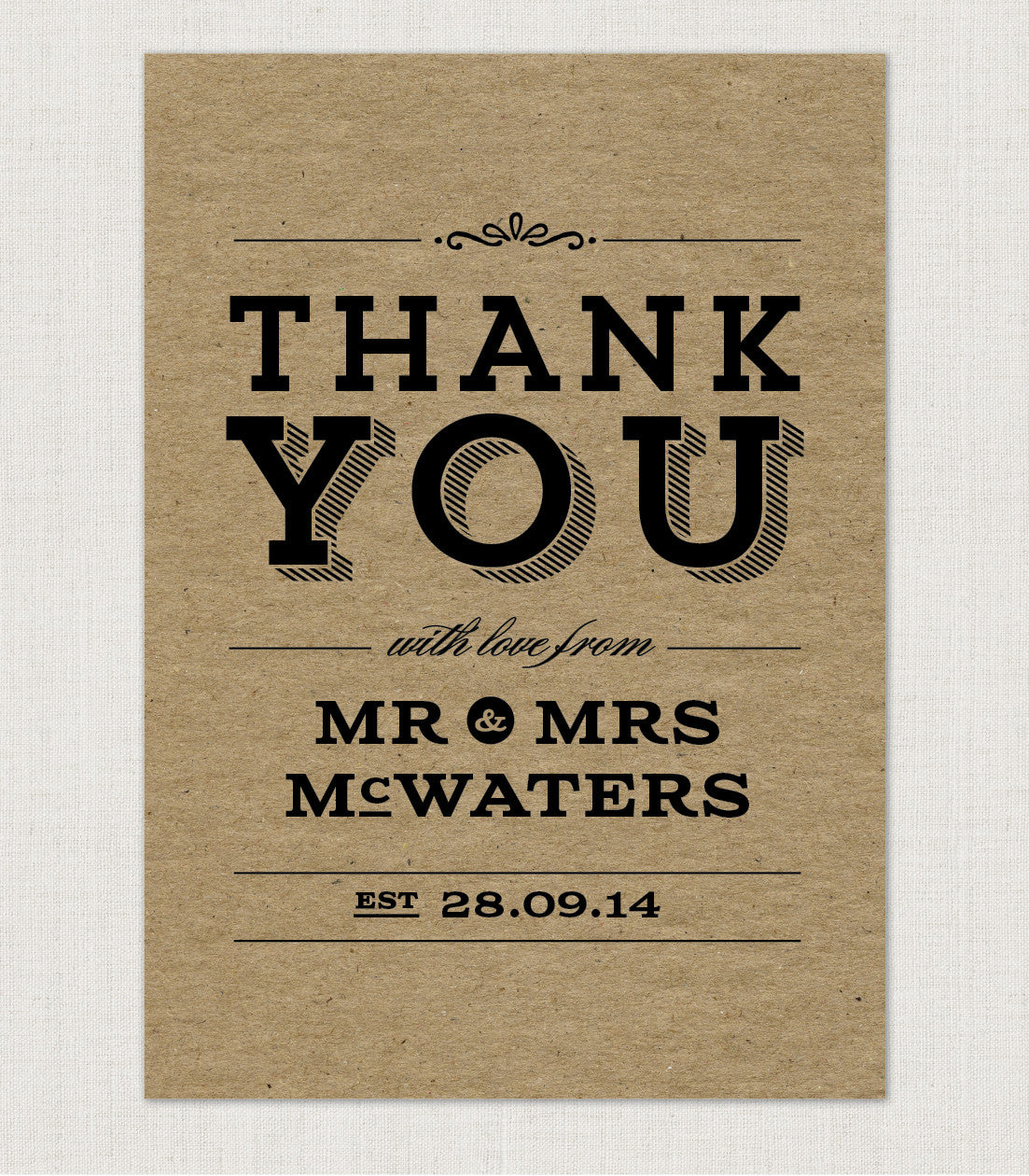 Frankie Vintage Thank You Card - Project Pretty  - 2