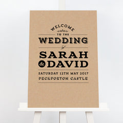 Franke kraft wedding welcome sign