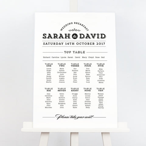 Frankie prohibition style wedding table plan