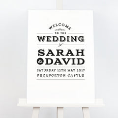 Frankie vintage wedding welcome sign