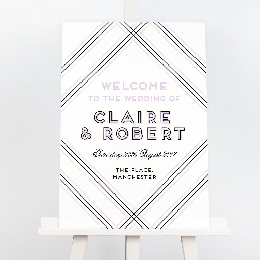Geometric welcome sign