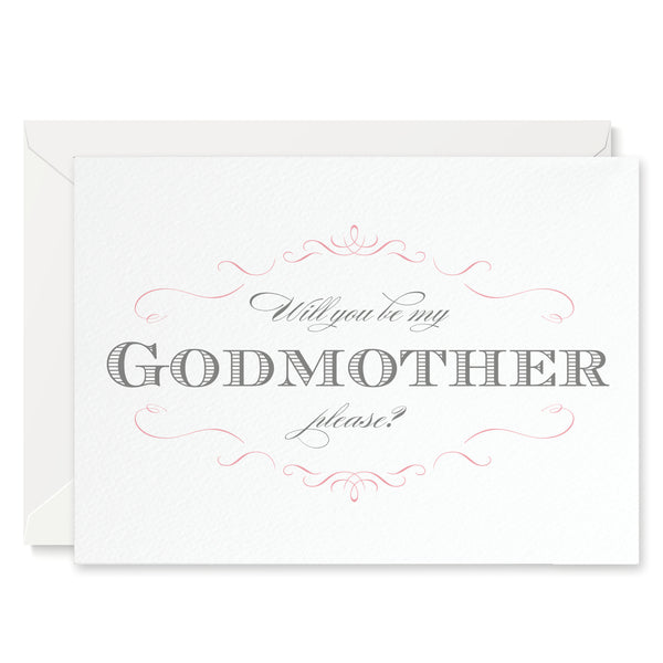 Olivia 'Will You Be My Godmother?' Card - Project Pretty
