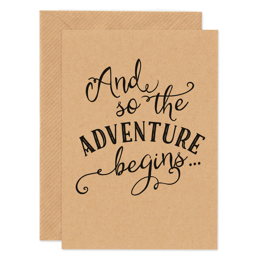 And So The Adventure Begins Card - Project Pretty