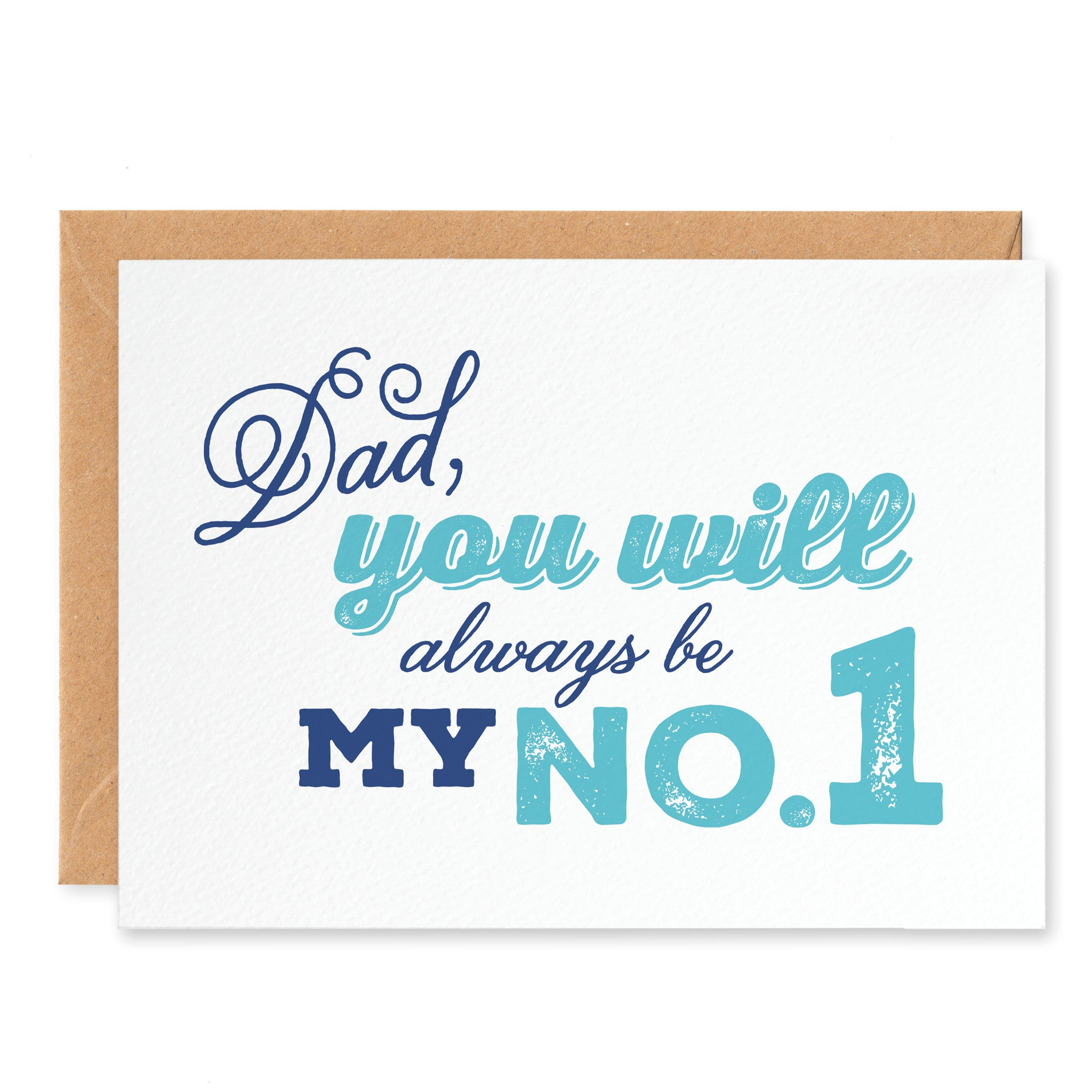 'Dad, You Will Always Be My No.1' Fathers Day Card - Project Pretty  - 1