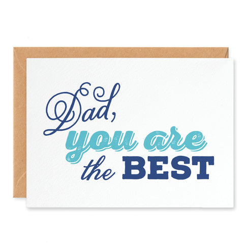 'Dad you are the best' Fathers Day Card