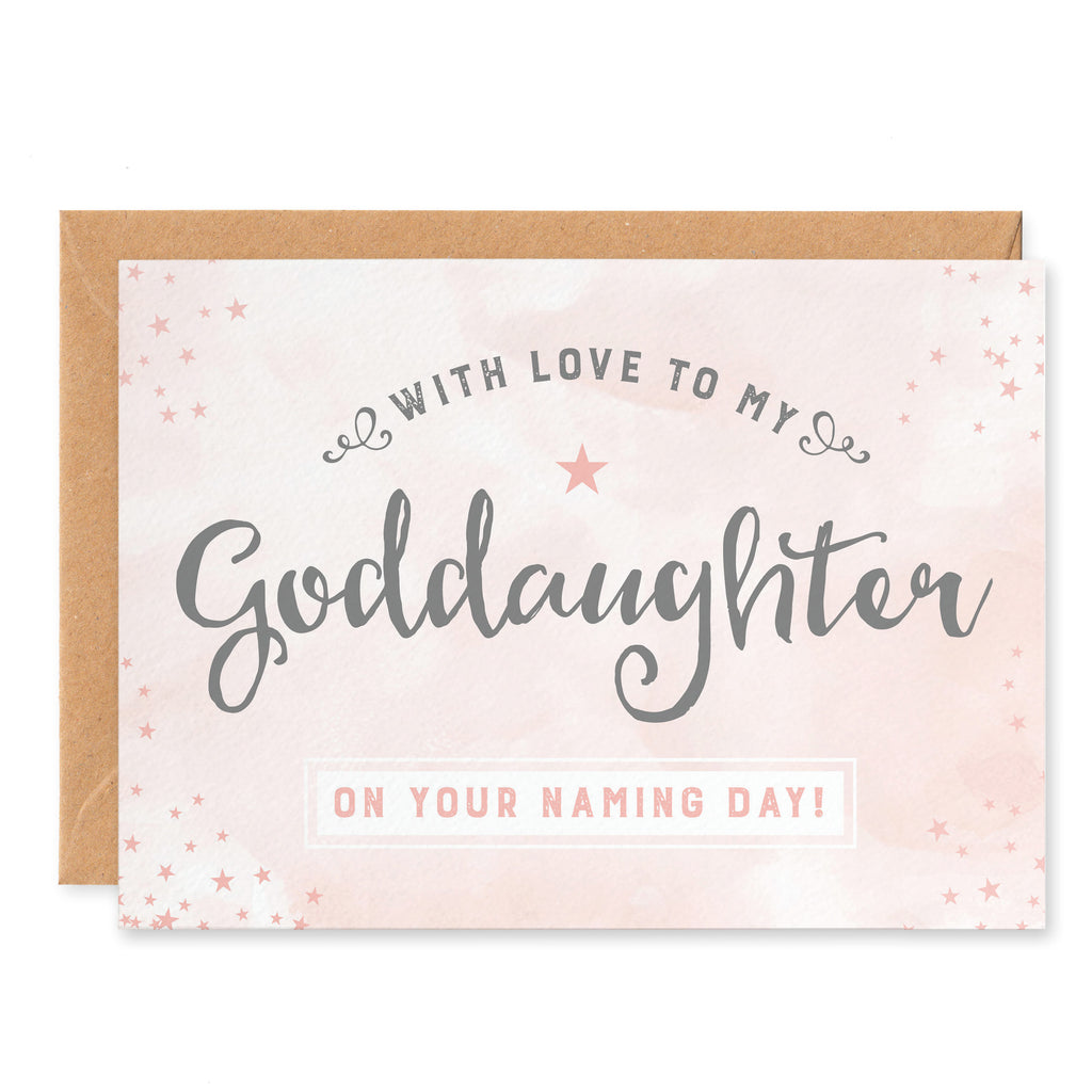 Goddaughter Naming Day Card
