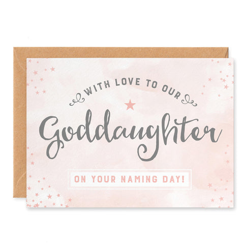 Our Goddaughter Naming Day Card