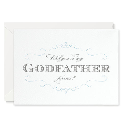Olivia 'Will You Be My Godfather?' Card - Project Pretty