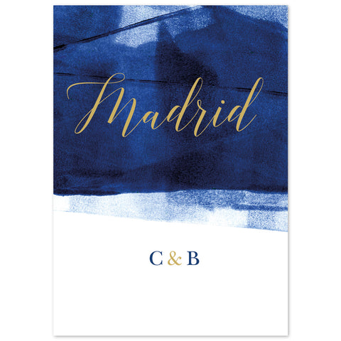 Grace table names *new* navy and gold