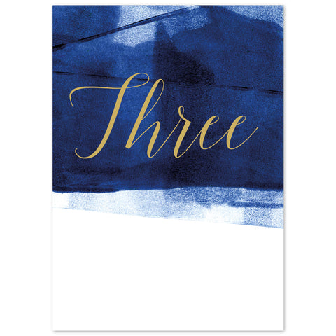 Grace table numbers *new* navy and gold