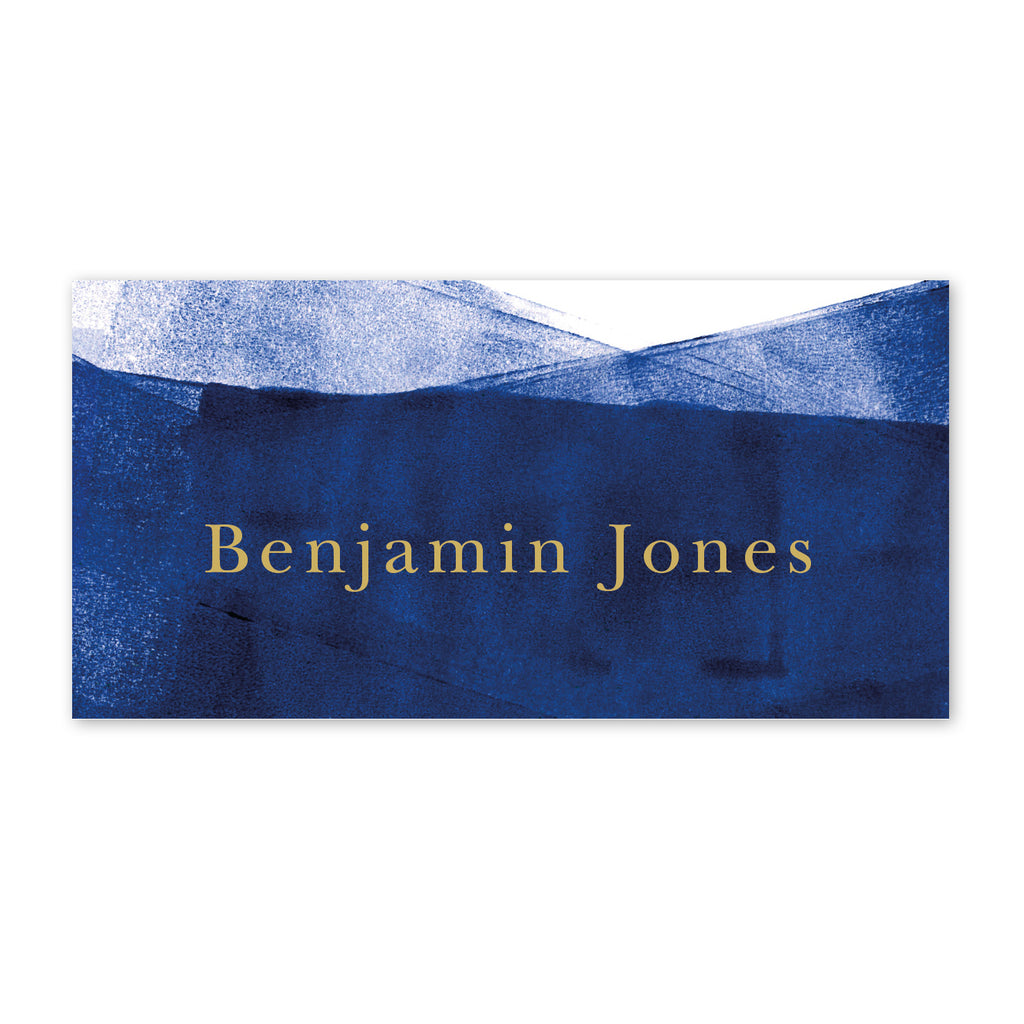 Grace Place Cards - navy and gold