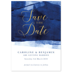 Grace Save The Date *new* navy and gold