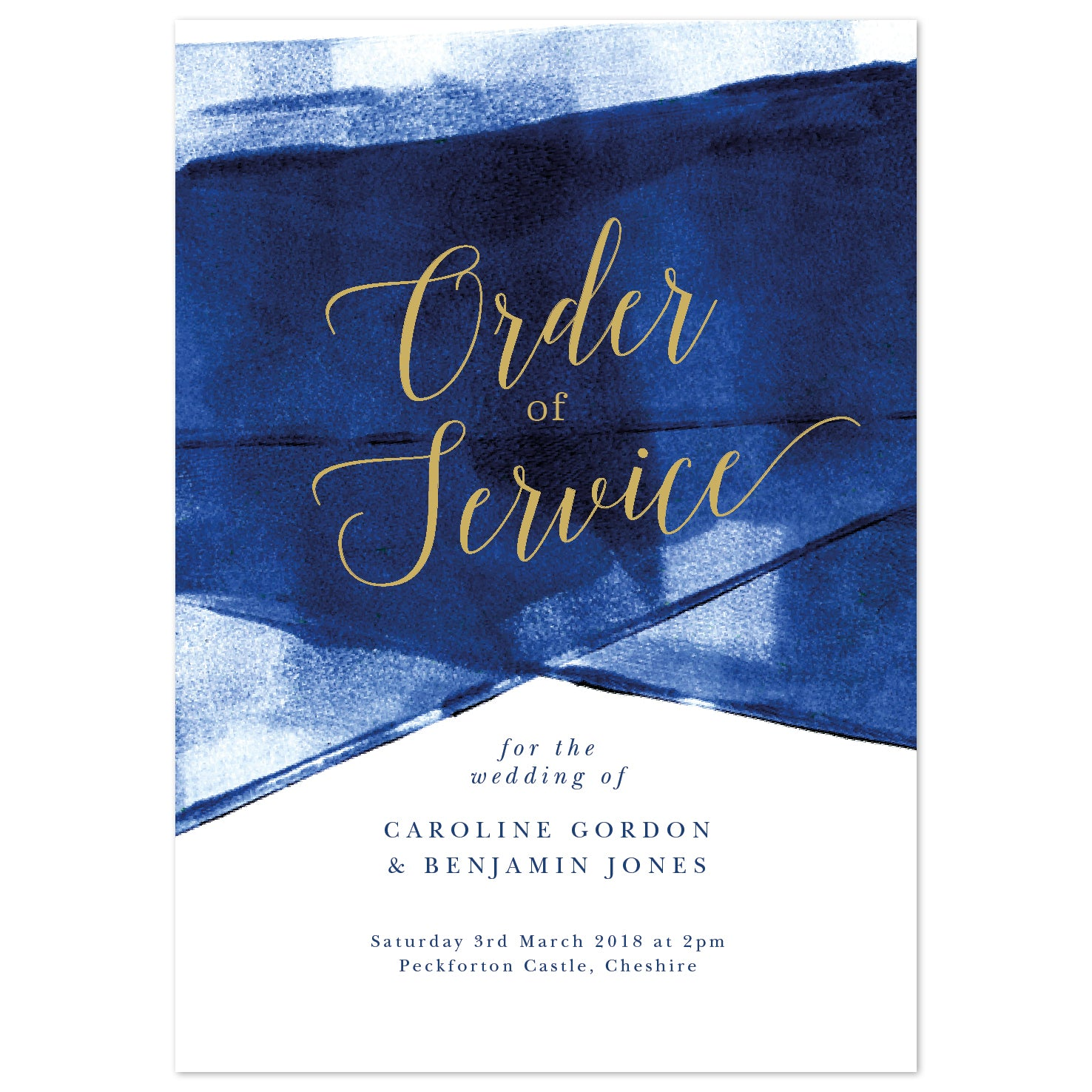 Grace Order of Service booklets *new* navy and gold